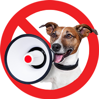 Employment Law Friend Privacy Policy dog with megaphone